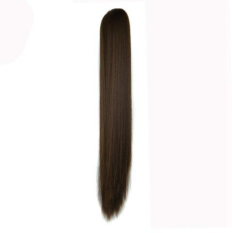 Fancy Long Straight  Heat Resistant Fibre Synthetic Claw Ponytail Clip in Hair Extensions