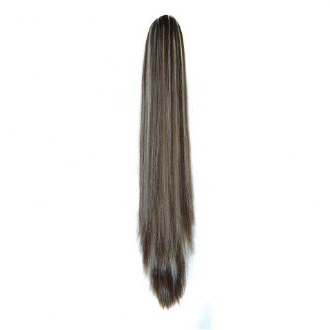 Store Long Straight  Heat Resistant Fibre Synthetic Claw Ponytail Clip in Hair Extensions