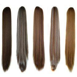 Long Straight  Heat Resistant Fibre Synthetic Claw Ponytail Clip in Hair Extensions -