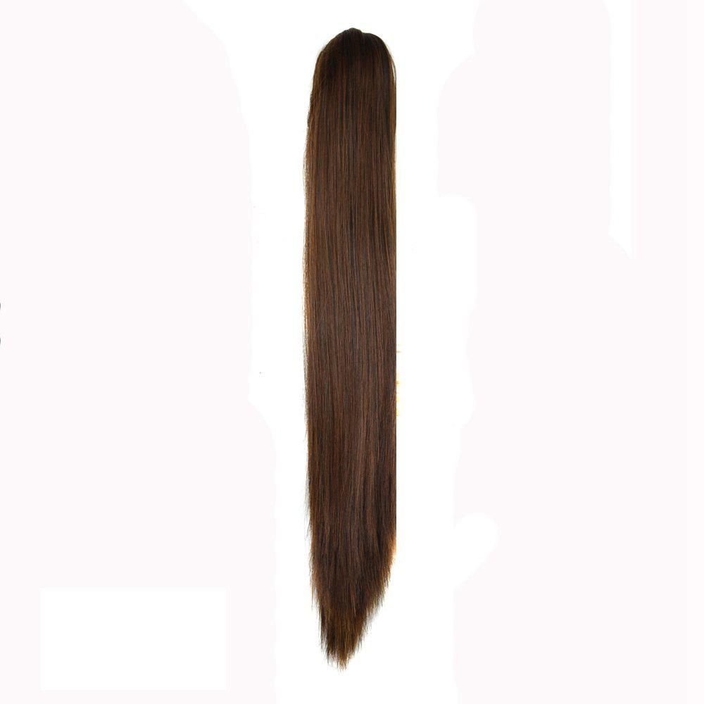 Hot Long Straight  Heat Resistant Fibre Synthetic Claw Ponytail Clip in Hair Extensions