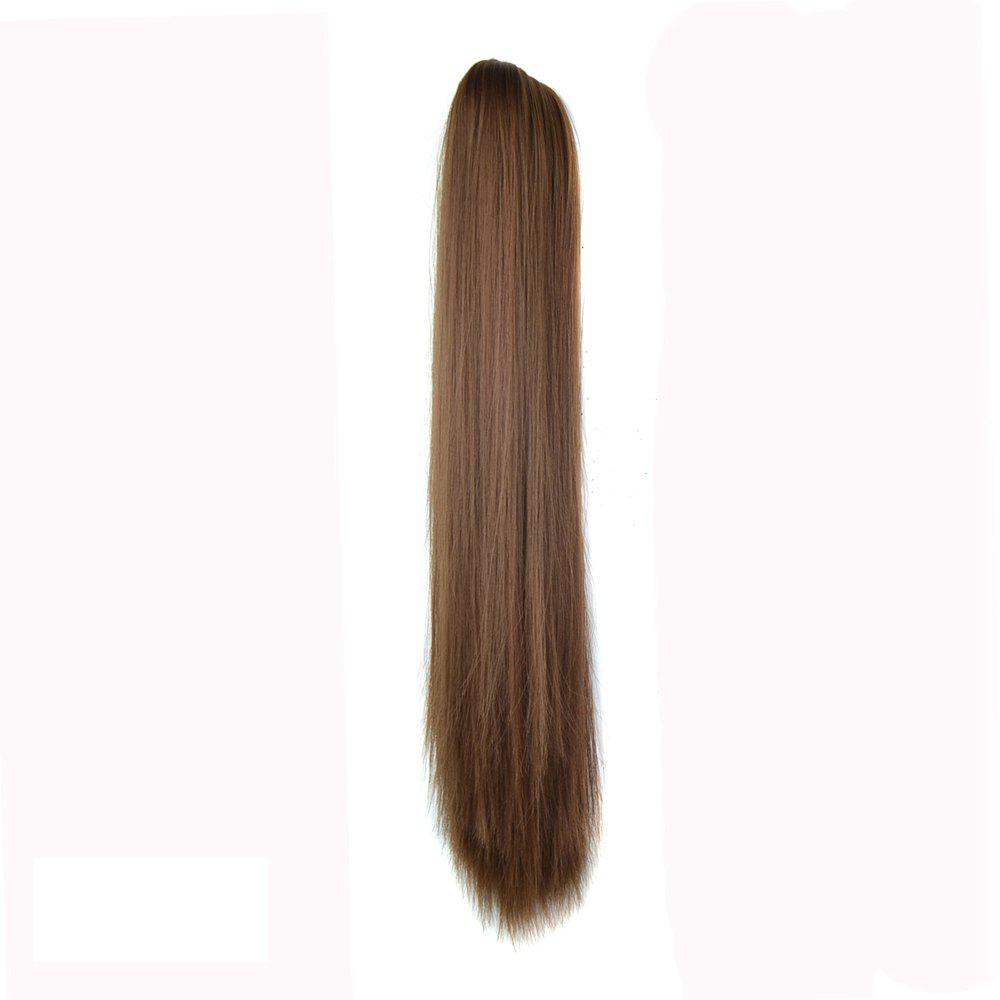 Buy Long Straight  Heat Resistant Fibre Synthetic Claw Ponytail Clip in Hair Extensions
