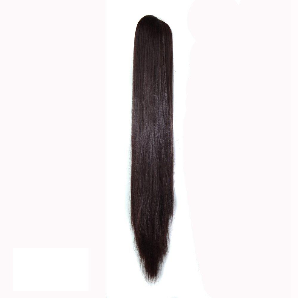 Shop Long Straight  Heat Resistant Fibre Synthetic Claw Ponytail Clip in Hair Extensions