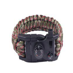 Multifunctional Outdoor Camping Rescue Survival Bracelet -