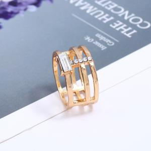 Fashion Temperament Geometric Gem Creative Ring -