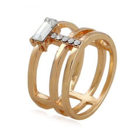 Fancy Fashion Temperament Geometric Gem Creative Ring