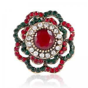 Fashion Temperament Bohemia Hollow Out Flower Ring -