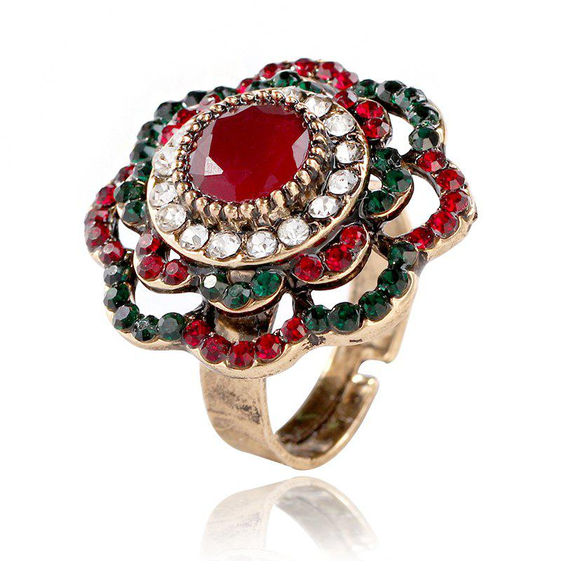 Online Fashion Temperament Bohemia Hollow Out Flower Ring
