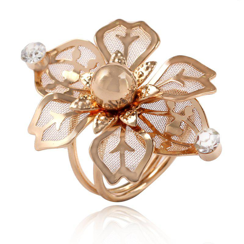 Outfits Temperament Multilayer Spring Transparent Flowers Opening Ring