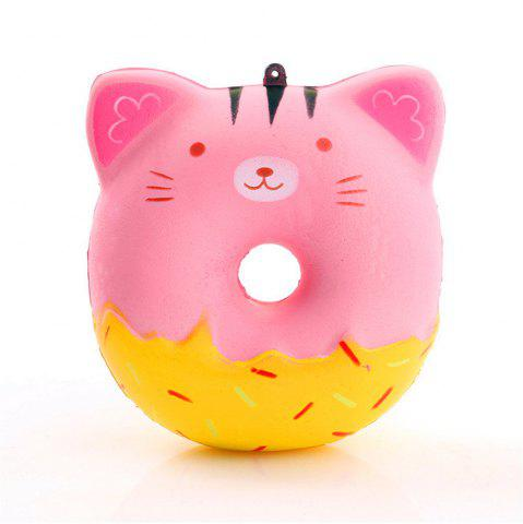 Affordable Jumbo Squishy Stylish Cat Doughnut PU Stress Reliever Toy