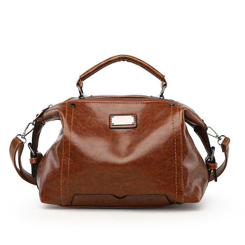 Online Female Fashion Wild Shoulder Messenger Bag Atmosphere Personality Boston Handbags