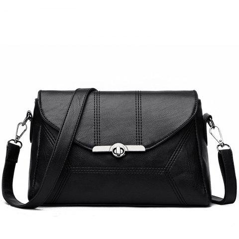 Fancy Middle-aged Female Mother Shoulder Messenger Bag Atmospheric Soft Leather Diagonal Package