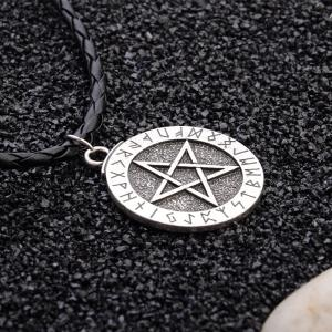 Europe and The United States Simple Five-Pointed Star Pendant Creative Men'S Long Necklace -