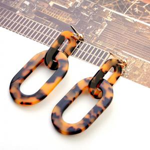 Japanese and Korean Version of The Simple Big-Name Acetic Acid Version of Leopard Earrings Acrylic Plate -