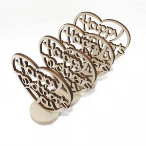Happy Mother's Day Holidays Home Furnishing Wood Decoration Crafts 4pcs -