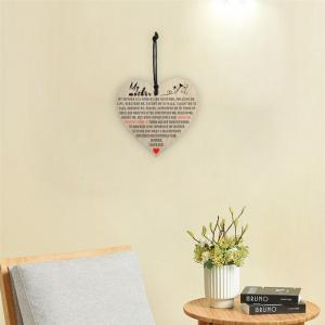 Mother'S Holiday Home Decoration, Creative Wooden Printing and Love Gift Tag -