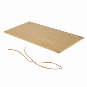 Wooden Crafts Creative Printing Plate Manual DIY Rope Home Furnishing Decorative Pendant -