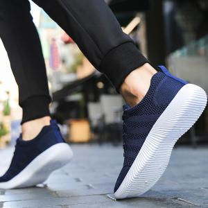 New Men Round Head Youth Breathable Cool Mesh Casual Sports Shoes -