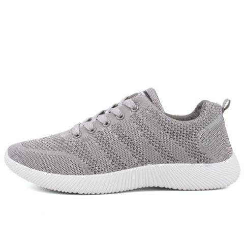 Fashion New Men Round Head Youth Breathable Cool Mesh Casual Sports Shoes