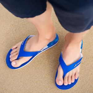 New Men Pure Color Plane Flat Beach Casual Slippers -