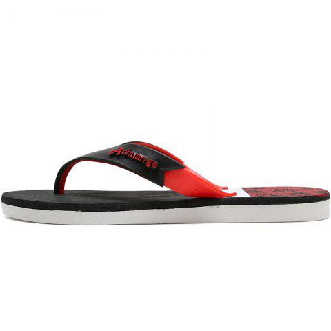 Best New Men Pure Color Plane Flat Beach Casual Slippers