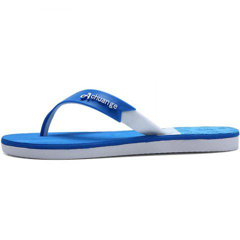 Latest New Men Pure Color Plane Flat Beach Casual Slippers