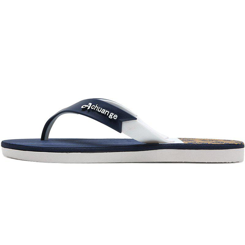 Fancy New Men Pure Color Plane Flat Beach Casual Slippers