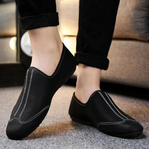 New Men Solid Color Fashion Peas Shoes -