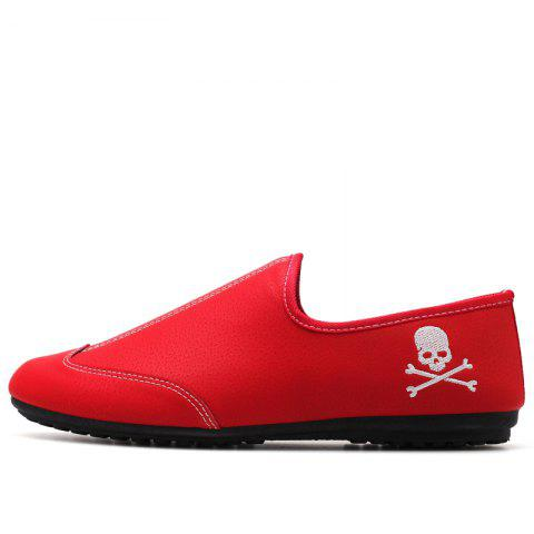 Online New Men Solid Color Fashion Peas Shoes
