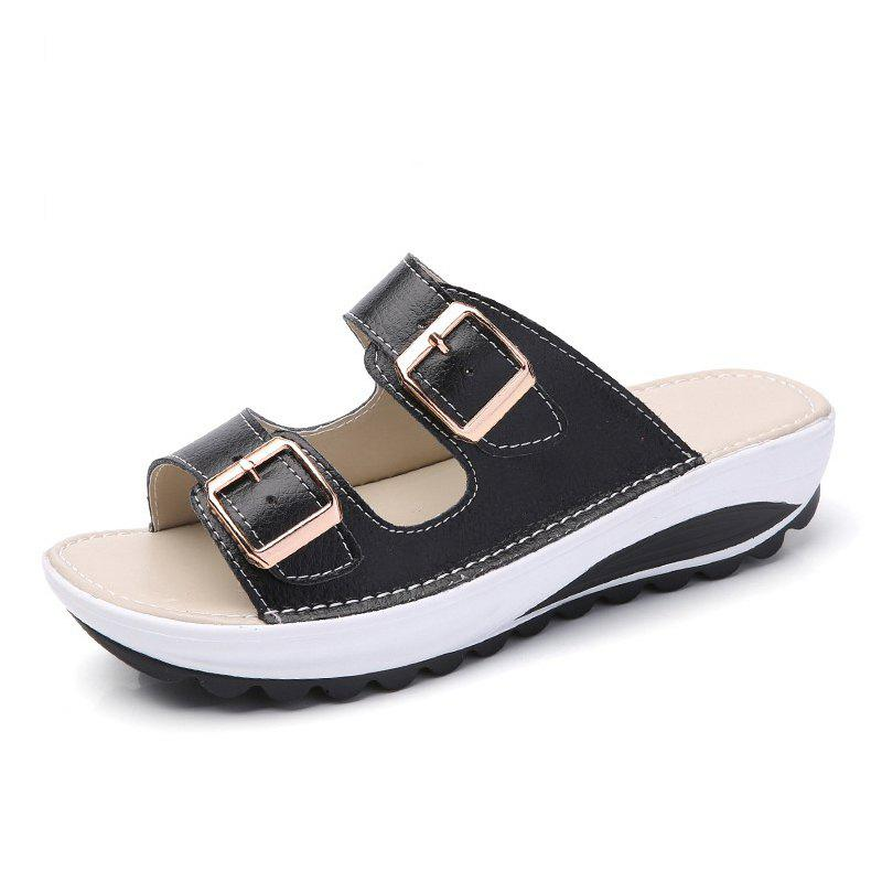 Sale New Ladies Fashionable Leather Slippers