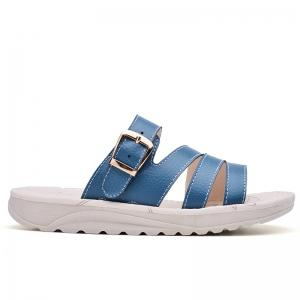 New Lady Summer Real Leather Antiskid Flat Bottomed Beach Shoes -
