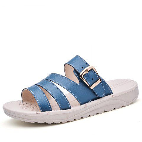 Trendy New Lady Summer Real Leather Antiskid Flat Bottomed Beach Shoes