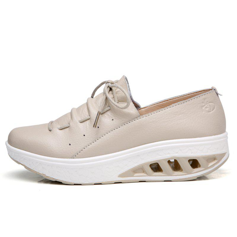 Fashion New Women Lightweight Breathable Simple Fashion White Shoes