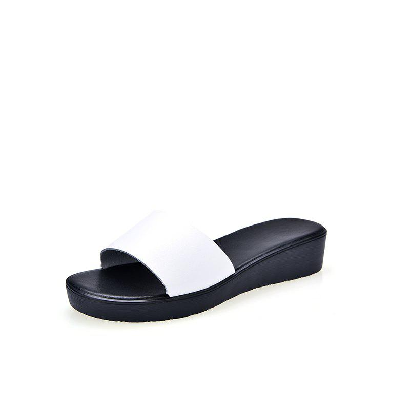 Affordable New Ladies Solid Color Platform Comfort Fashion Slippers