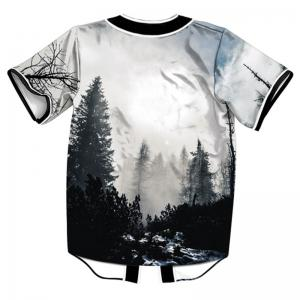 Fashion Design Forest 3D Digital Print Short Sleeve T-shirt -
