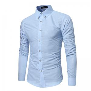 Spring New Men's Fashion Camouflage Dark Long-Sleeved Slim Shirt -