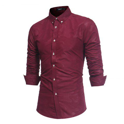 Outfits Spring New Men's Fashion Camouflage Dark Long-Sleeved Slim Shirt