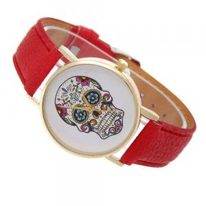 Casual Fashion Personality Leather Band Men Watch -