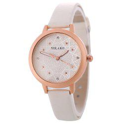 Women Alloy Watch with Artificial Diamond -