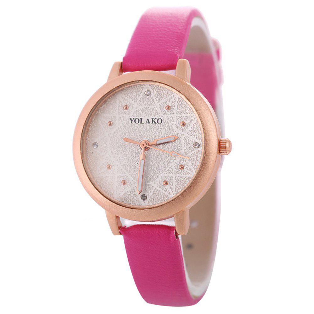 Chic Women Alloy Watch with Artificial Diamond