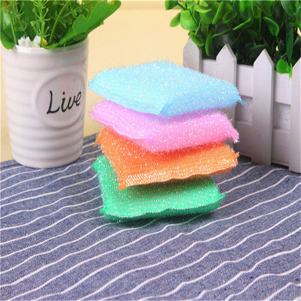 Chic Hot Kitchen Sponge Cleaning Brush Pot Dish Towel 4PC