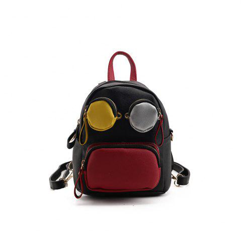 Chic PU Fashion Wild Simple Fresh Little Girl Tide Backpack