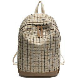 Canvas Fashion Wild Simple Small Fresh Female Large Capacity Backpack Tide -