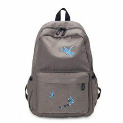 Canvas Large Capacity Fashion Simple Cute Female Small Fresh Travel Backpack Tide -