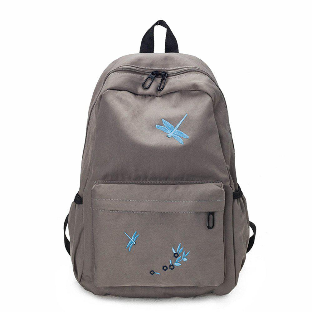 Chic Canvas Large Capacity Fashion Simple Cute Female Small Fresh Travel Backpack Tide
