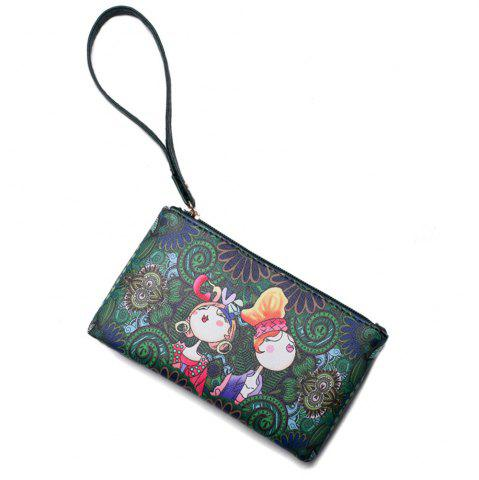Shop Fashion Painting Simple Wild Cute Female Clutch Bag Tide