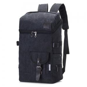 Fashion Simple Wild Large Capacity Male Outdoor Travel Canvas Backpack -