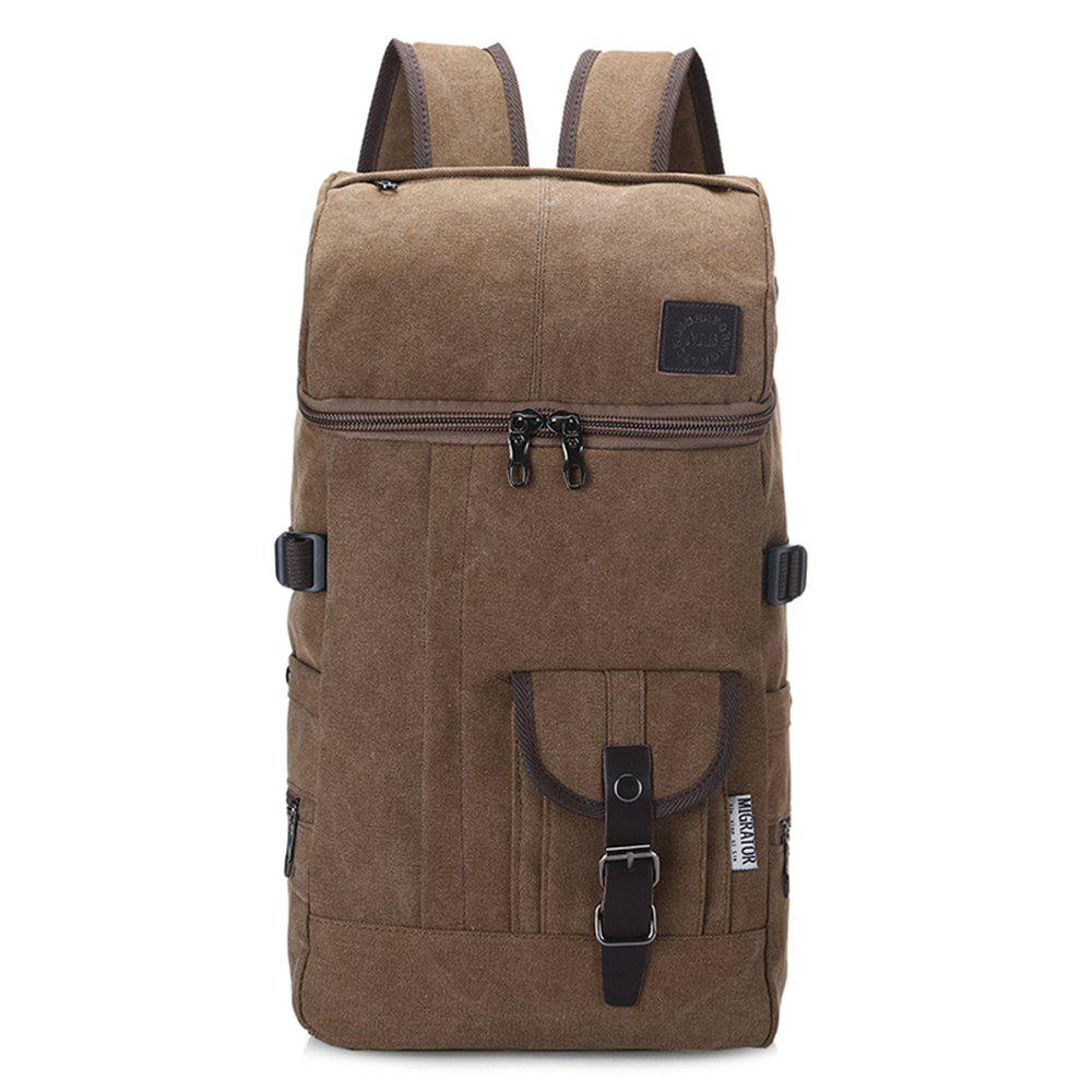 Trendy Fashion Simple Wild Large Capacity Male Outdoor Travel Canvas Backpack