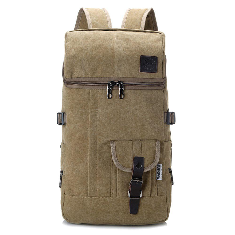 Shops Fashion Simple Wild Large Capacity Male Outdoor Travel Canvas Backpack