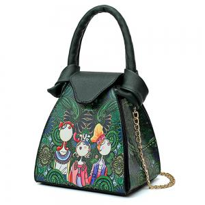 Fashion Painting Cute Fresh Fresh Wild Simple Female Chain Shoulder Messenger Bag Tide -