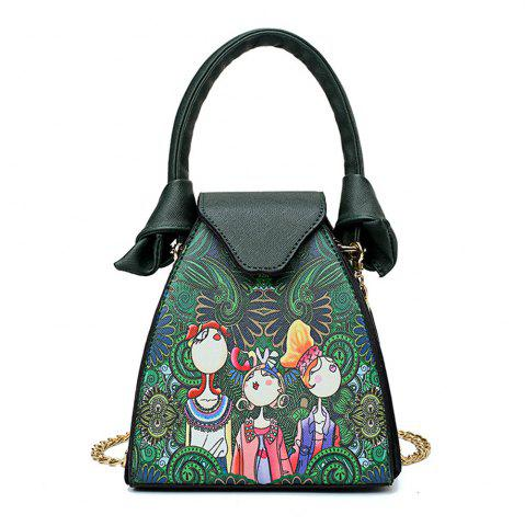 Affordable Fashion Painting Cute Fresh Fresh Wild Simple Female Chain Shoulder Messenger Bag Tide